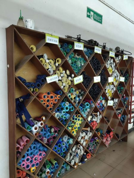 Raw materials warehouse: a variety of threads