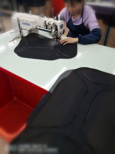 Sewing procedure: from inside to outside