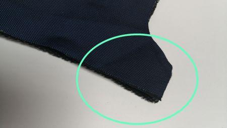 المواد محاذاة بدقة قبل الخياطة