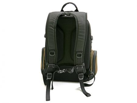 Rear view of the backpack.