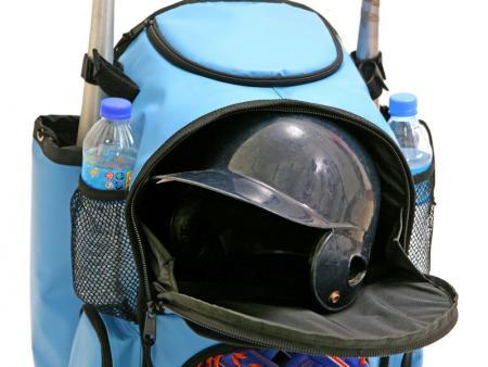 Upper layer for helmet storage.
