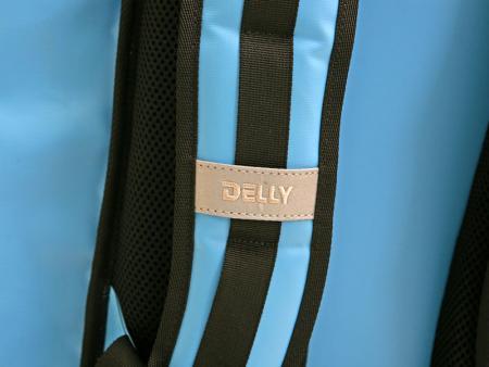Reflective tape on shoulder straps.