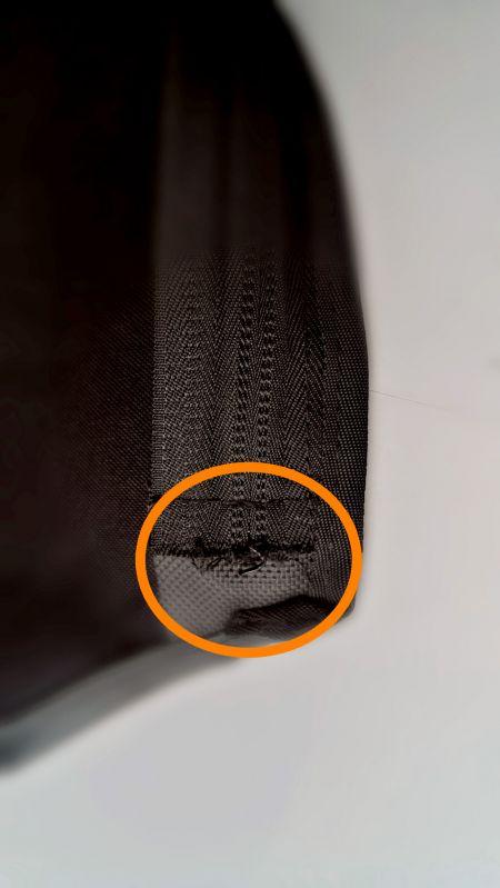 Uncleanly Cut Nylon Zipper End