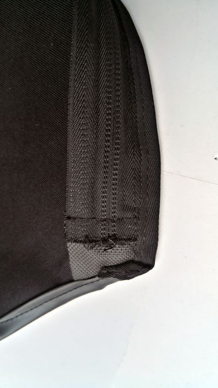Uncleanly Cut Nylon Zipper End Zoomed