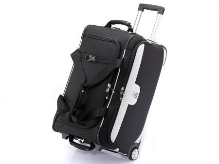 حقيبة من القماش الخشن مقاس 24 بوصة مزودة بعجلات - حقيبة سفر بعجلتين مقاس 24 بوصة.