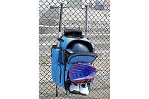 Baseball rygsæk med flagermus lommer