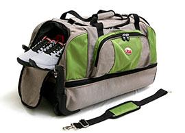 حقيبة سفر ذات طبقتين على عجلات
