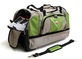 Two-Layered Travel Bag on Wheels