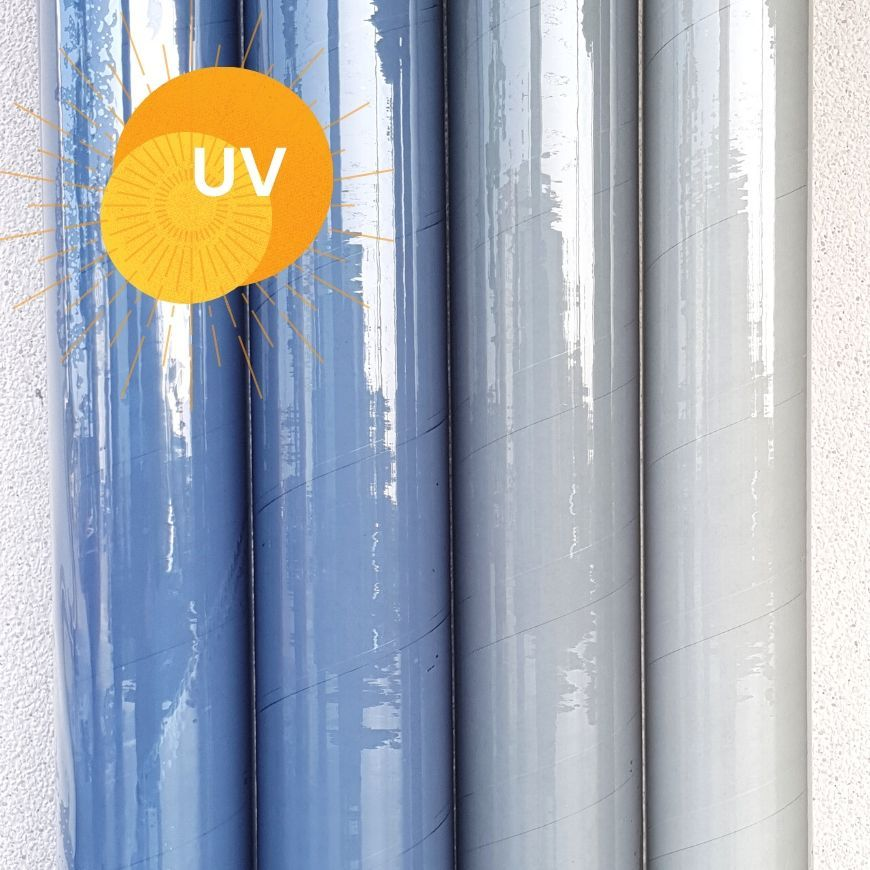 THICK 0.5MM FIRE UV COLD CRACK RESISTANT OUTDOOR SUITABLE CLEAR PVC SHEETING WINDOWS BOATS COVERS