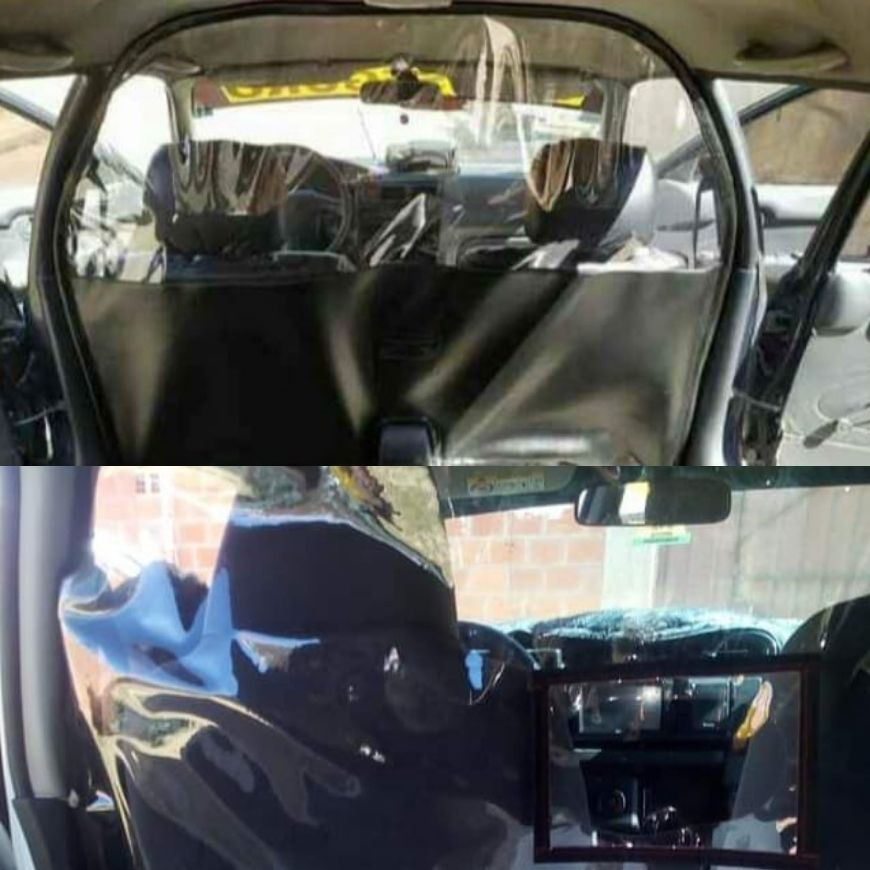 Transparent Partitions installed in Taxi during Covid-19