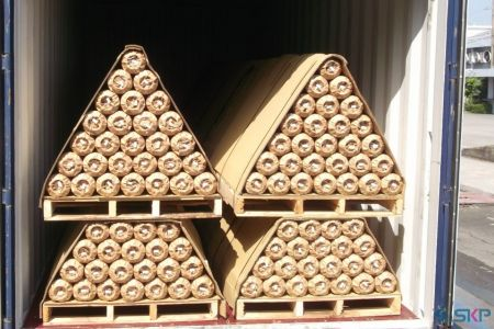 7.Pallets with Craft Paper