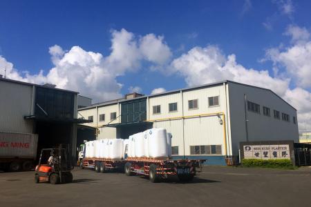 Descărcarea materiei prime din rășină PVC_Shih Kuen Plastics
