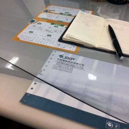 Desk Protector Mat - PVC Sheet Applications