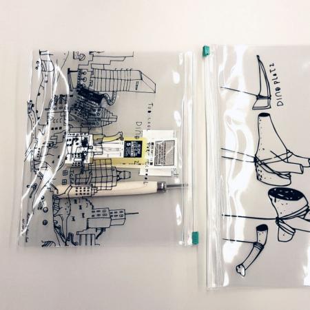 Clear See through Organizer - تطبيقات ورقة PVC