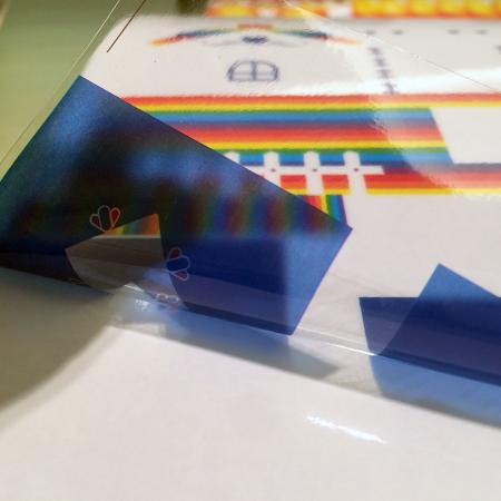 Autocolante de vinil statice agățate imprimate - Aplicații pentru foi de PVC