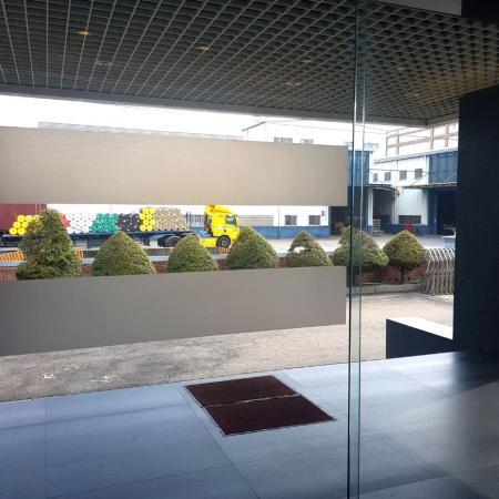 فيلم نافذة بلوري نصف شفاف - تطبيقات PVC