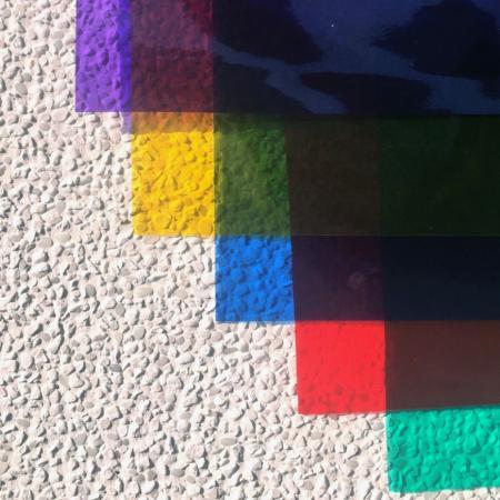 Foaie din PVC colorat foarte clar