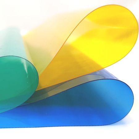 Foaie din PVC transparent colorat - Role coli din PVC transparent