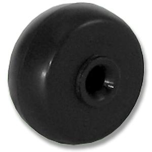 30mm Black Axle Rubber Wheels - 30mm Black Axle Rubber Wheels