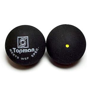 Single yellow dot squash balls - Squash Balls (Single Yellow Dot)