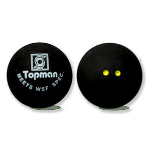 Dubbele gele stip squashballen - Squashballen (dubbele gele stip)