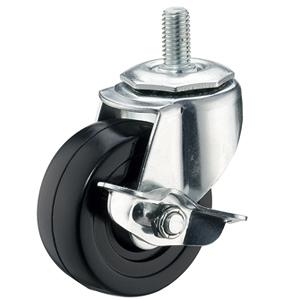 """4 """"x 1-1 / 4"""" -wieltjes met schroefdraad met hard rubberen wielen - 4 """"x 1-1 / 4"""" -wieltjes met schroefdraad met hard rubberen wielen"""