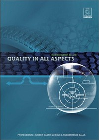 Huashen rubberen productcatalogus 2012 - Catalogus rubberen zwenkwielen en rubberen ballen