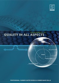 Huashen rubberen productcatalogus 2014 - Catalogus rubberen zwenkwielen en rubberen ballen