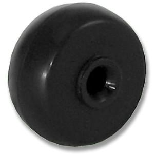 27mm Black Axle Rubber Wheels - 27mm Black Axle Rubber Wheels