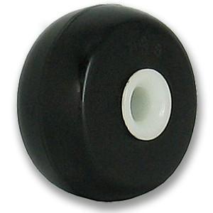 27 mm rubberen wieltjes met witte as