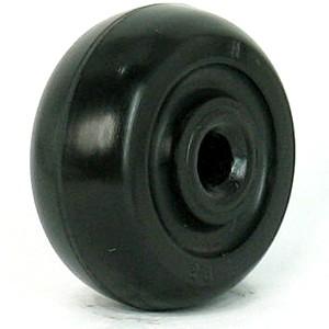 40mm Black Axle Rubber Wheels - 40mm Black Axle Rubber Wheels
