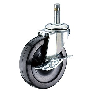"2-1/2"" x 13/16"" Friction Ring Stem Casters With Hard Rubber Wheels - 2-1/2"" x 13/16"" Friction Ring Stem Casters With Hard Rubber Wheels"