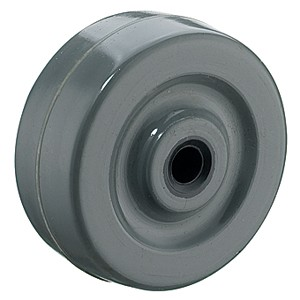 50mm Gray Solid Rubber Wheels