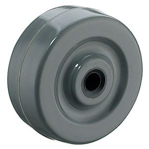 Rodas de borracha maciça cinza de 50mm