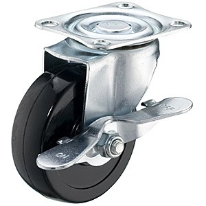 """3"""" x 1"""" Swivel Top Plate Casters With Soft Rubber Wheels - 3"""" x 1"""" Swivel Top Plate Casters With Soft Rubber Wheels"""