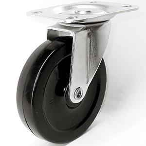 "4 ""x 7/8"" Swivel Top Plate Casters Na May Mga Soft Rubber Wheels - 4 ""x 7/8"" Swivel Top Plate Casters Na May Mga Soft Rubber Wheels"