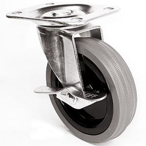 """4 """"x 15/16"""" zwenkwielen met bovenplaat met grijze rubberen wielen - 4 """"x 15/16"""" zwenkwielen met bovenplaat met grijze rubberen wielen"""