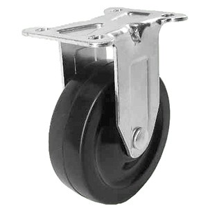 """3"""" x 1-1/4"""" Rigid Top Plate Casters With Soft Rubber Wheels - 3"""" x 1-1/4"""" Rigid Top Plate Casters With Soft Rubber Wheels"""