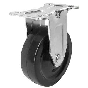 """3 """"x 1-1/4"""" stijve bovenplaat zwenkwielen met zachte rubberen wielen - 3 """"x 1-1/4"""" stijve bovenplaat zwenkwielen met zachte rubberen wielen"""
