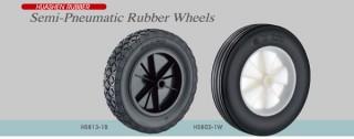 Semi-pneumatische rubberen wielen