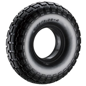 250 mm semi-pneumatische rubberen wielen (350-4) - 250 mm semi-pneumatische rubberen wielen (350-4)