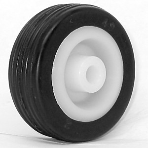 50mm Solid Rubber on Plastic Hub Wheels - 50mm Solid Rubber on Plastic Hub Wheels