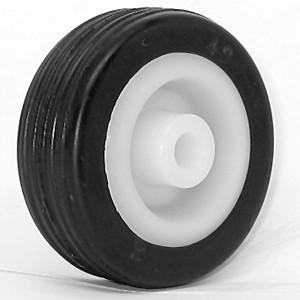 Borracha maciça de 50mm sobre rodas de cubo de plástico