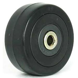 50 mm massief rubber op lagerwielen