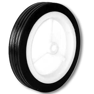 83,5 mm massief rubber op kunststof naafwielen - 83,5 mm massief rubber op kunststof naafwielen