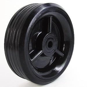 100 mm massief rubber op kunststof naafwielen - 100 mm massief rubber op kunststof naafwielen