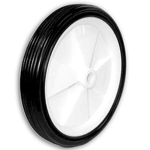 132mm Solid Rubber on Plastic Hub Wheels - 132mm Solid Rubber on Plastic Hub Wheels