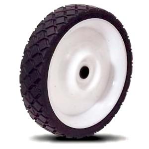 170 mm massief rubber op kunststof naafwielen - 170 mm massief rubber op kunststof naafwielen