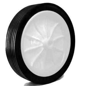185 mm massief rubber op kunststof naafwielen - 185 mm massief rubber op kunststof naafwielen