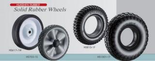Solid Rubber Wheels Na May Plastic Hub
